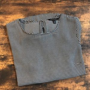 Banana Republic houndstooth blouse, sz small